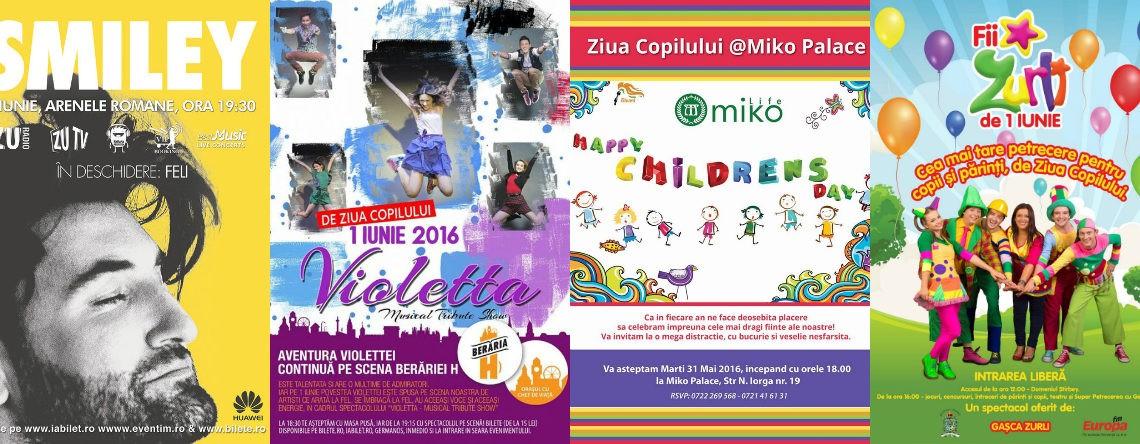Ce program ai de 1 iunie? Iată câteva opțiuni pentru cei mici!