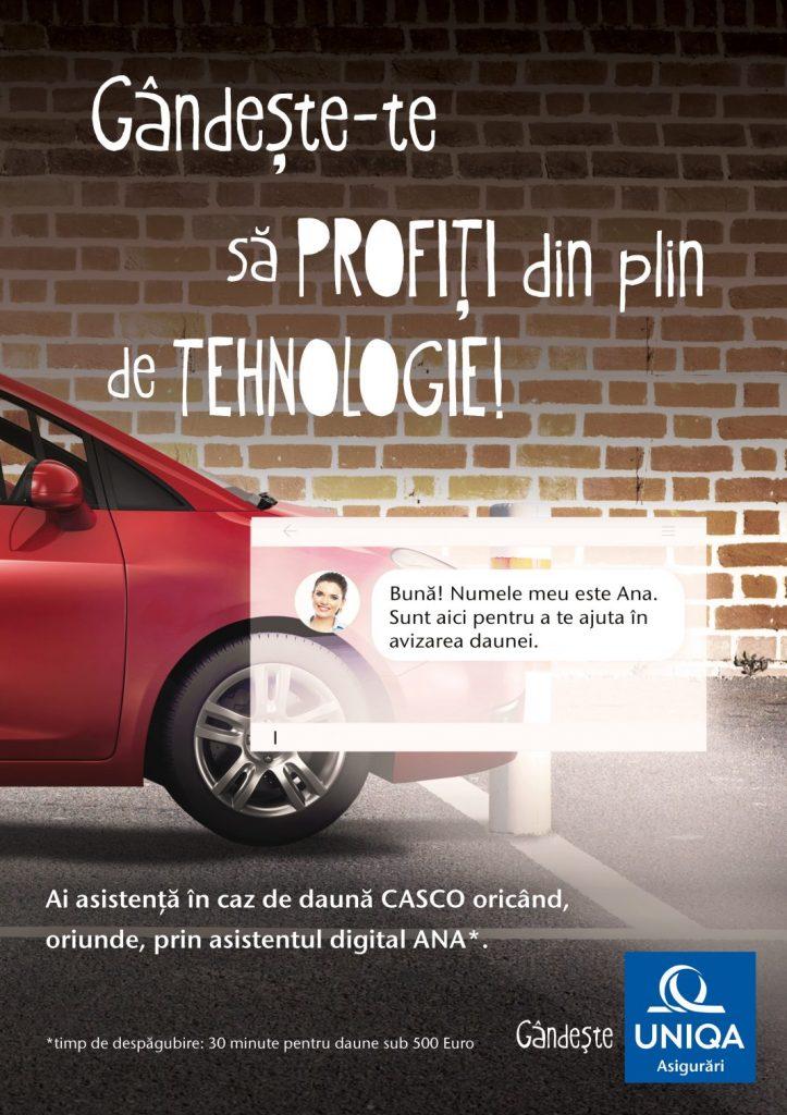 ANA primul asistent digital din industria asigurarilor auto